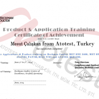 beckman coulter, atotest, sertifka, certificate